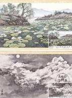 Carte Maximum TAIWAN N°Yvert 1038/1041 (PEINTURES)  4 Cartes Obl Sp 1er Jour
