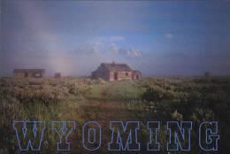 Wyoming Cabin Scene