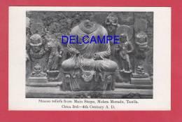 CPA - Mohra Moradu , TAXILA - Stucco Reliefs From Main Stupa - Buddha - Pakistan