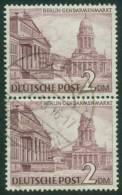 Berlin  1949  Freimarken - Berliner Bauten I - Gendarmenmarkt  (1 Senkr. Paar Gest. (used))  Mi: 58/58 (30 EUR) - [5] Berlin