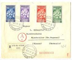 LBL15 - VATICAN LETTRE RECOMMANDEE A DESTINATION DE RISCHWEILER 6/5/1941 - Lettres & Documents