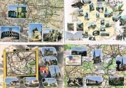 290213G  Lot De 50 CPM/CPSM Couleur : FRANCE / Cartes Géographiques - Cartes Postales