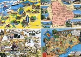 290213H  Lot De 50 CPM/CPSM Couleur : FRANCE / Cartes Géographiques - Cartes Postales