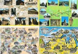 290213J  Lot De 90 CPM/CPSM Couleur : FRANCE / Cartes Géographiques - Cartes Postales