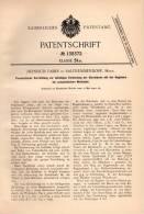 Original Patentschrift - Heinrich Faber In Salzhemmendorf , 1902 , Pneumatikapparat Für Klaviatur , Klavier , Musik !!! - Historical Documents