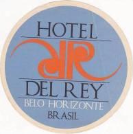 BRASIL BELO HORIZONTE HOTEL DEL REY VINTAGE LUGGAGE LABEL - Hotel Labels
