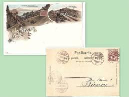 SUISSE Chemin De Fer Du RIGI, CP Précurseur 1895, Cachets ; Ref 549 - Non Classés