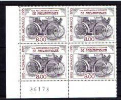 Monaco 1995, 1° Automobile Avec Pneumatiques, 1999** En #, Cote15,40 €, - Autos