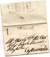 1831  LETTERA CON ANNULLO SPOLETO - 1. ...-1850 Prefilatelia