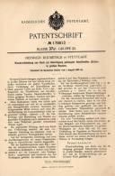 Original Patentschrift - H. Dolmetsch In Stuttgart , 1905 , Schalldämmung Aus Kork , Echo , Hausbau , Dämmung !!! - Architektur