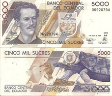 Ecuador P120A, 5 Sucres, Antonio José De Sucre $4 CV - Ecuador