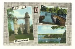 Cp, Allemagne, Berlin, Pfaneninsel, Multi-Vues, Voyagée - Deutschland