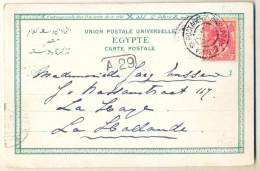 3PK-984: N°60: POSTAGENT AMSTERDAM-BATAVIA> Kaart: PANORAMA  PORT-SAID > LA HAYE - 1891-1948 (Wilhelmine)