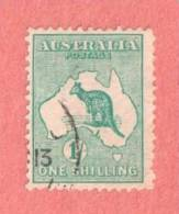 AUS SC #10  1913 Kangaroo And Map, W/nibbed Perf @ UL CV $29.00 - Used Stamps