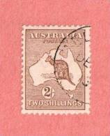 AUS SC #11  1913 Kangaroo And Map CV $140.00 - Used Stamps