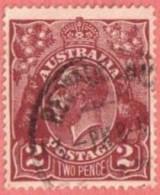 AUS SC #29  1924 King Geoge V CV $12.50 - Usati