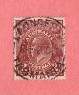 """AUS SC #29  1924 King Geoge V, w/SON """"TASMANIA / 2OC24"""""""