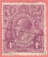 AUS SC #32  1921 KING GEORGE V CV $21.00 - Used Stamps