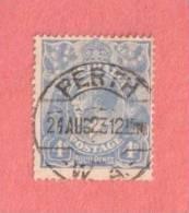 "AUS SC #33  1922 KING GEORGE V, w/SON ""PERTH W.A. / 24AUG23"""