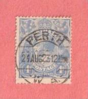 """AUS SC #33  1922 KING GEORGE V, W/SON """"PERTH W.A. / 24AUG23"""" CV $13.00 - Used Stamps"""