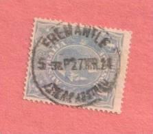 "AUS SC #33  1922 KING GEORGE V, W/SON ""FREEMANTLE ... /27 MR"" CV $13.00 - Used Stamps"