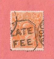 "AUS SC #31  1915 KING GEORGE V, w/SON ""LATE FEE"""