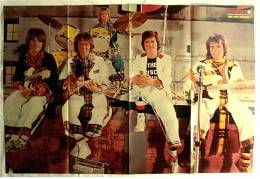 Musik Poster  - Bay City Rollers  -  Rückseitig Gruppe Sweet  -  Ca. 78 X 52 Cm  -  Von Bravo  1976 - Plakate & Poster