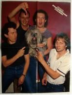 Poster Musik-Gruppe  Spider Murphy Gang  -  Rückseitig  Frank Zander In 3D  - Ca. 37 X 49 Cm  -  Von Popcorn Ca. 1982 - Manifesti & Poster