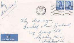 Hong Kong 1954 Cover Sent To Australia - Gebruikt