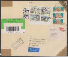 India  1996  Withdrawn Water Birds  Block  Registered Cover To U.K. # 45244  Inde Indien - Marine Web-footed Birds