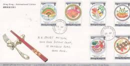 Hong Kong 1990 International Cuisine Addressed FDC - Hong Kong (...-1997)