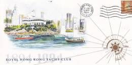 Hong Kong 1994 Royal Hong Kong Yacht Club Souvenir Cover - Hong Kong (...-1997)