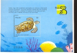 PALAU    497  MINT NEVER HINGED SOUVENIR SHEET OF FISH-MARINE LIFE ; TURTLE - Fishes
