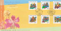 Hong Kong 1999 Joint Issue With Singapore FDC - 1997-... Chinese Admnistrative Region