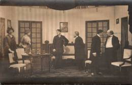 Photographisches Atelier Kriegsgefangenenlager 2 Münster I. W 1916 Carte Photo Théatre Prisonniers Guerre - Cartes Postales
