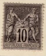 1877-80 : Groupe Allégorique Paix Et Commerce Dit Type Sage. Type II N° 89 - 1876-1898 Sage (Type II)
