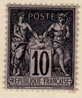 1877-80 : Groupe Allégorique Paix Et Commerce Dit Type Sage. Type II N° 89 A - 1876-1898 Sage (Type II)