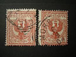 REGNO - 1901, 2 Cent. Rosso Bruno, Us. - Usati