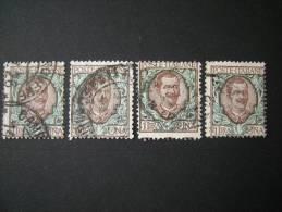 REGNO - 1901, L. 1 Bruno Verde, Us. - 1900-44 Vittorio Emanuele III