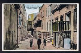 RB 922 - Early Postcard - Petite Rue Sous-le-Cap - Quebec Canada - Children - Quebec