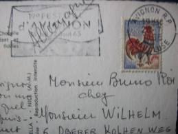 Cachet 19 éme FESTIVAL D'AVIGNON 16Juil./ 2 Aout 1965 - Marcophilie (Lettres)