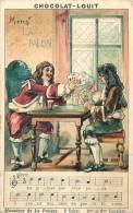 Chromos Réf. 900. Chocolat Louit - Chanson - Monsieur De La Palisse - 5è Et 6è Couplets - Cartes, Jeu - Louit