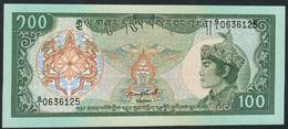 BHUTAN P18a   100  NGULTRUM   1986    UNC. - Bhoutan