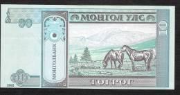 MONGOLIA   P62b    10   TUGRIK    2002    UNC. - Mongolia