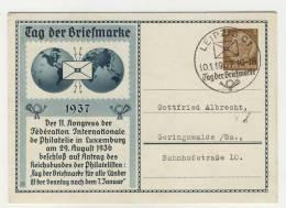 Deutsches Reich Ganzsache LPP 165 gebraucht / Tag der Briefmarke 1937