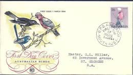 Australia 1964 Birds Aves Oiseaux Vegels Cockatoos - Galah -  Eolophus Roseicapillus FDC - Parrots