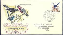 Australia 1964 Birds Aves Oiseaux Vegels Wrens - Superb Fairywren - Malurus Cyaneus FDC - Songbirds & Tree Dwellers