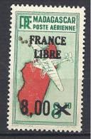 MADAGASCAR AERIEN FRANCE LIBRE N� 54 NEUF** LUXE