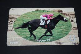 "JAPAN  Telefonkarte  ""  Pferde Rennen  ""   Gebraucht - Japan"