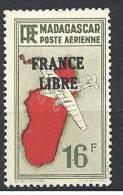 MADAGASCAR AERIEN FRANCE LIBRE N� 50 NEUF** LUXE
